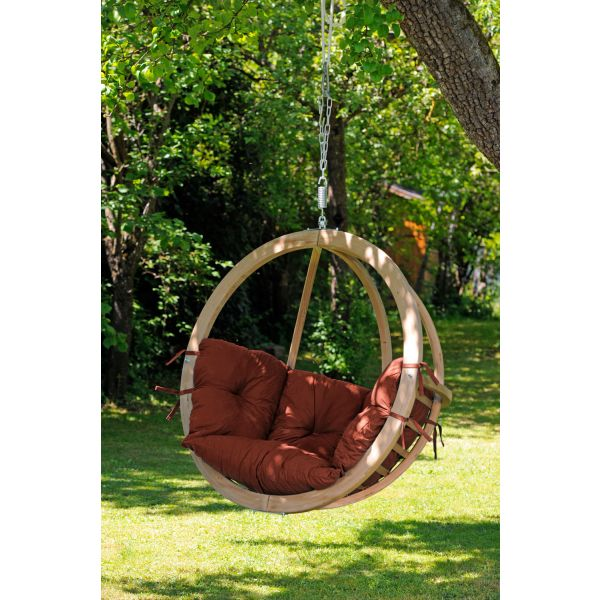 'Globo' Terracotta Single Hanging Chair