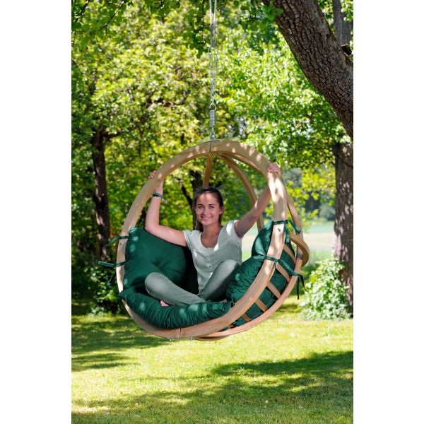 'Globo' Weatherproof Green Single Hanging Chair