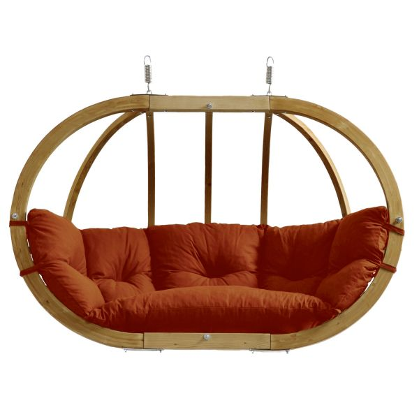 'Globo Royal' Terracotta Double Hanging Chair