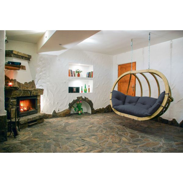 'Globo Royal' Anthracite Double Hanging Chair