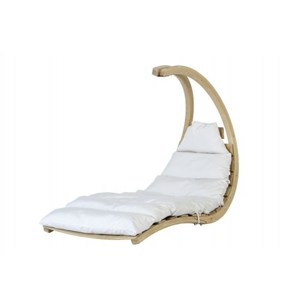 Swing Lounger Creme Single Hanging Chair