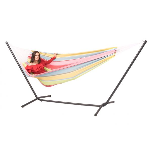 'Easy & Barbuda' Orient Double Hammock with Stand