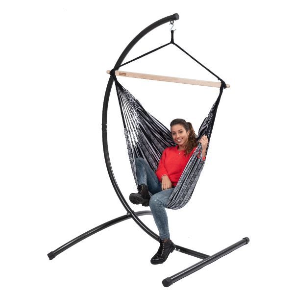 'Comfort' Black White Single Hanging Chair