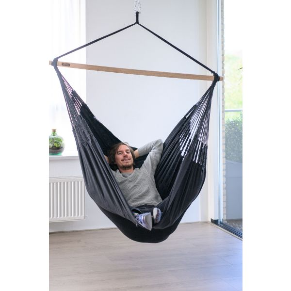 'Luxe' Black Double Hanging Chair
