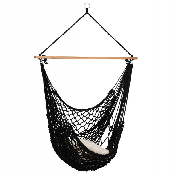 'Rope' Black Single Hanging Chair