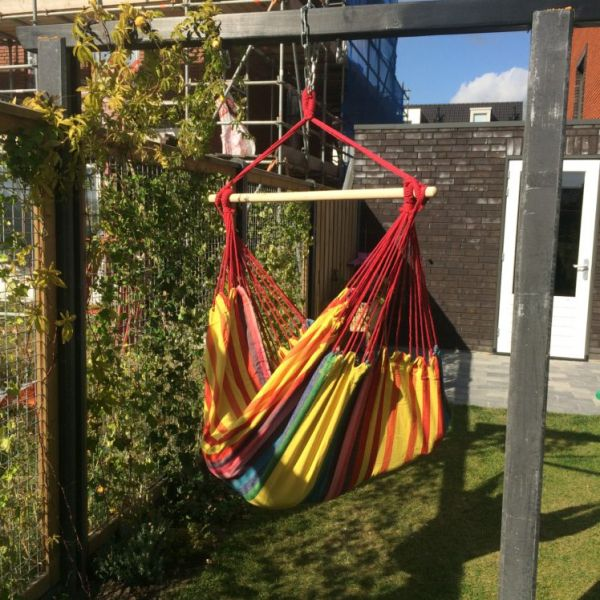 'Tropical' Sunny Lounge Single Hanging Chair