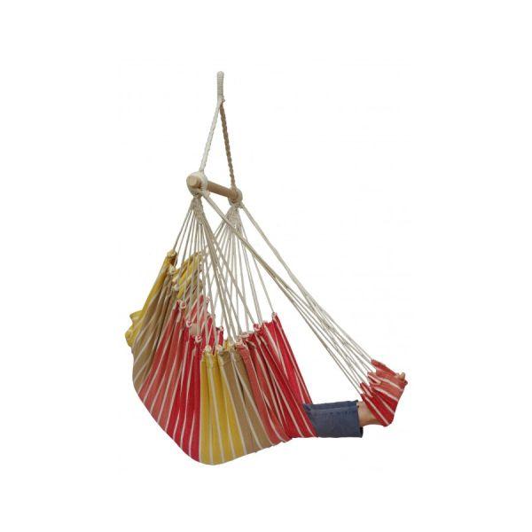 'Tropical' Earth Lounge Single Hanging Chair