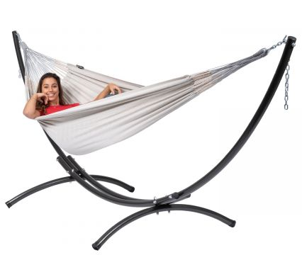 Arc & Comfort Pearl Double Hammock with Stand