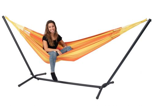 Easy & Dream Orange Single Hammock with Stand