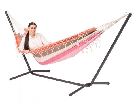Easy & Grenada Lychee Single Hammock with Stand