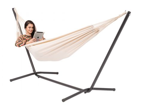 Easy & Margarita Natura Single Hammock with Stand