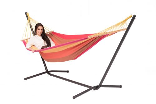 Easy & Martinique Sunset Single Hammock with Stand