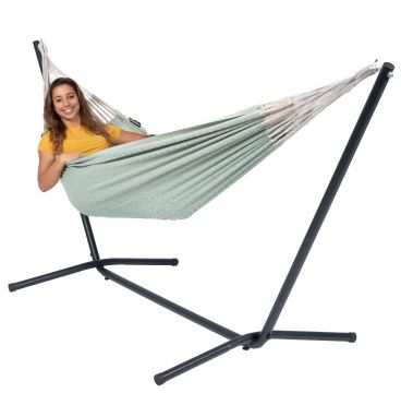 Easy & Natural Green Single Hammock with Stand