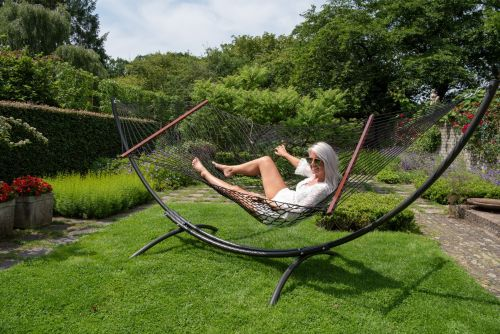Arc & Rope Black XXL Hammock with Stand