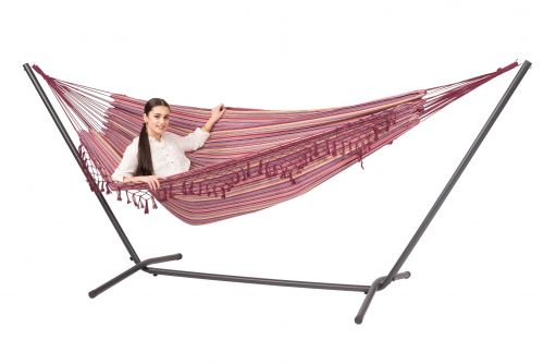 Easy & Tortuga Andalusia Double Hammock with Stand