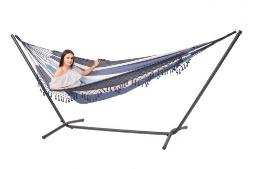 Easy & Tortuga Sea Double Hammock with Stand