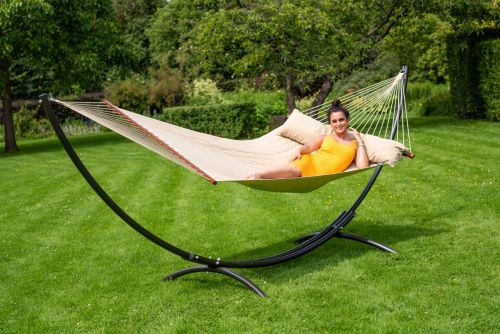 Arc & Vegas Taupe XXL Hammock with Stand