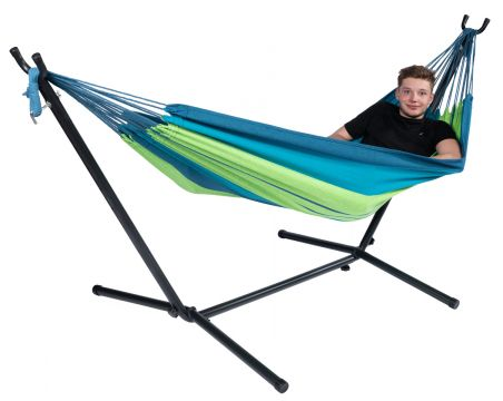 Pine Single Single Hammock with Stand