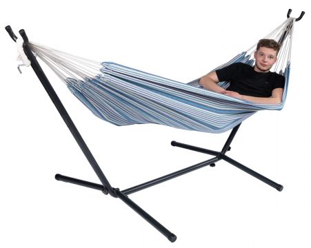 Rustic Single Single Hammock with Stand