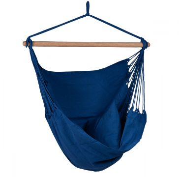 Organic Blue Single Hanging Chair