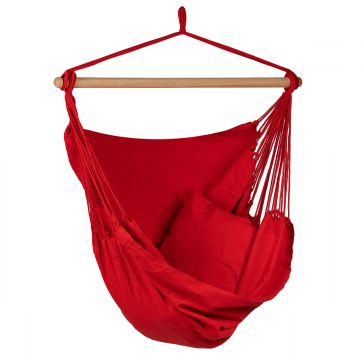 Organic Red Single Hanging Chair