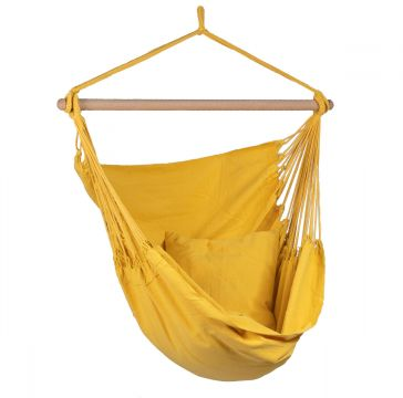 Organic Yellow Single Hanging Chair