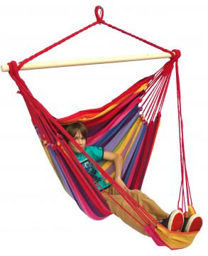 Tropical Raspberry Lounge Single Hanging Chair