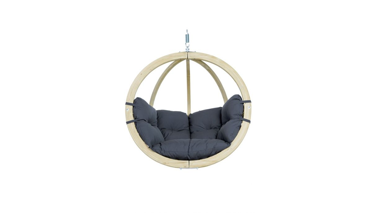 'Globo' Weatherproof Anthracite Single Hanging Chair