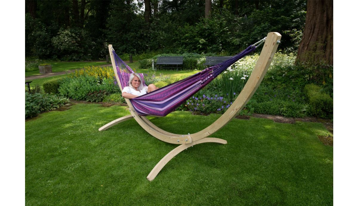 'Wood & Chill' Love Double Hammock with Stand