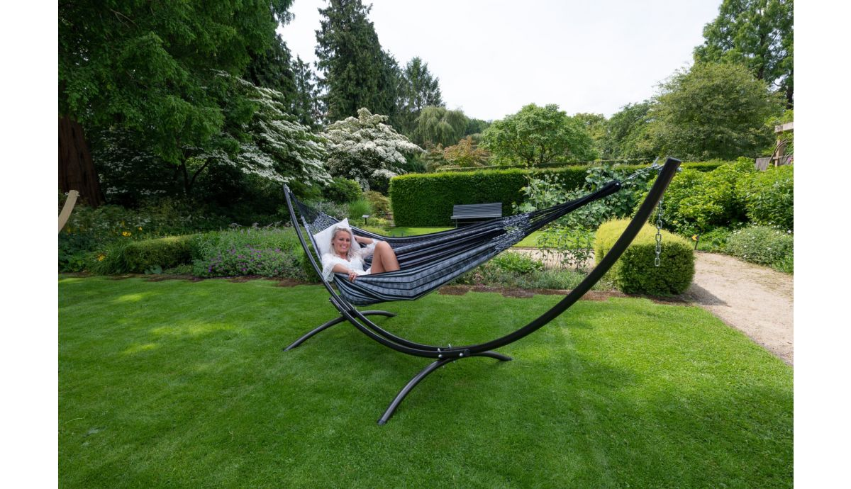 'Comfort' Black White Double Hammock