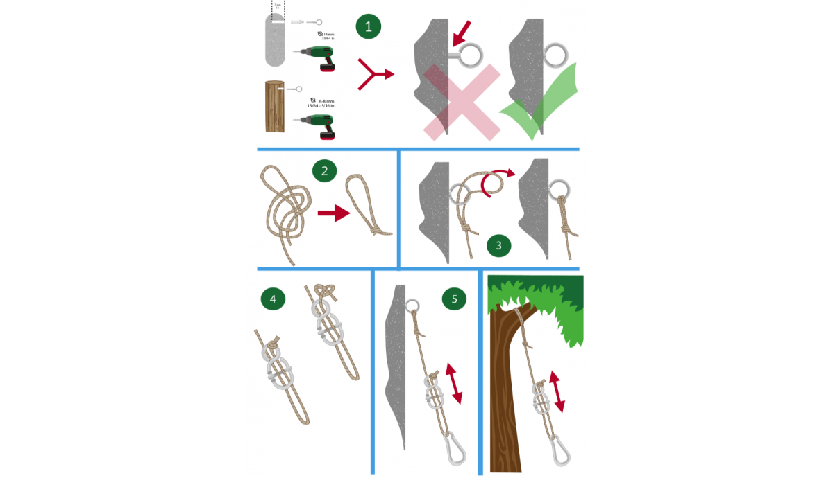 'Complete' White Hammock Fixing