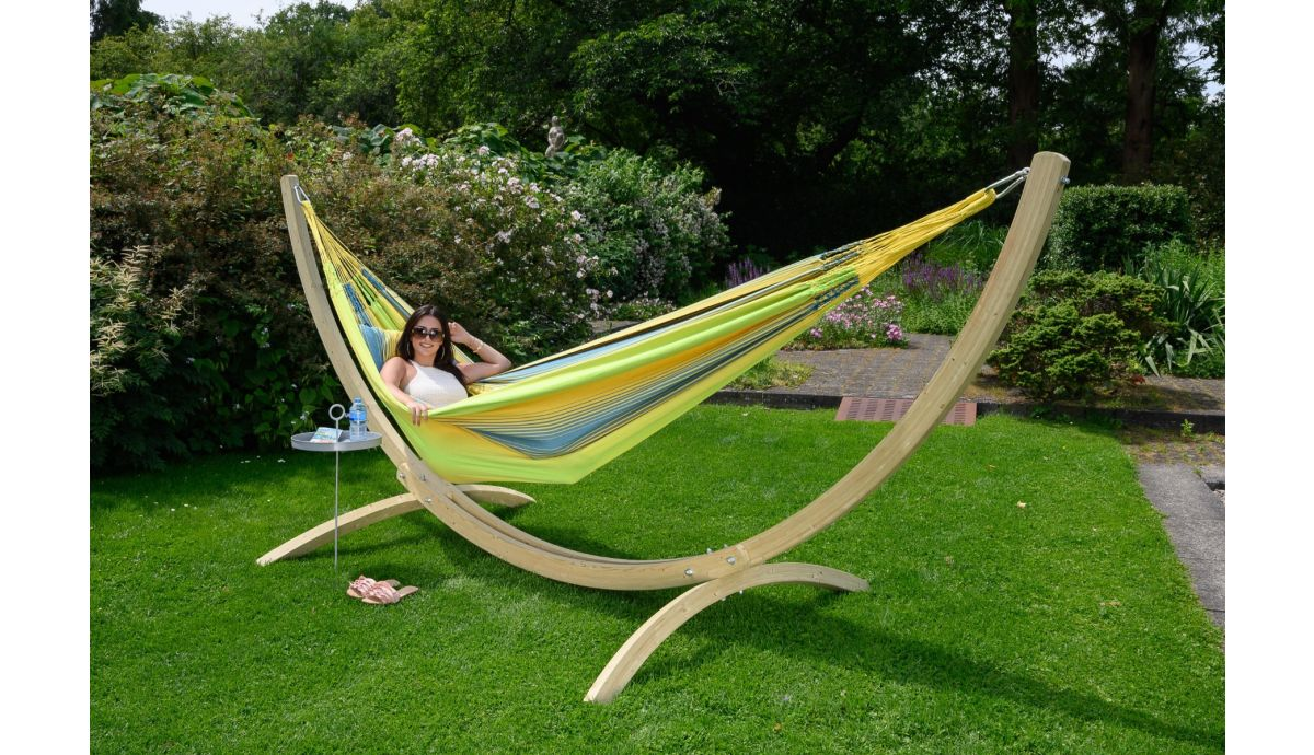 'Wood & Refresh' Cocktail XXL Hammock with Stand