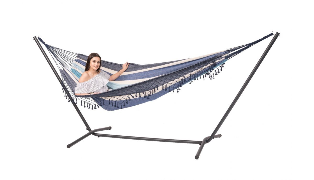 'Easy & Tortuga' Sea Double Hammock with Stand