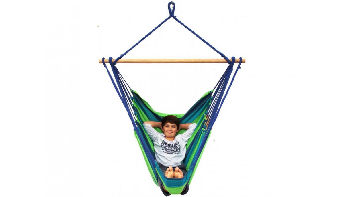 'Tropical' Pine Lounge Single Hanging Chair