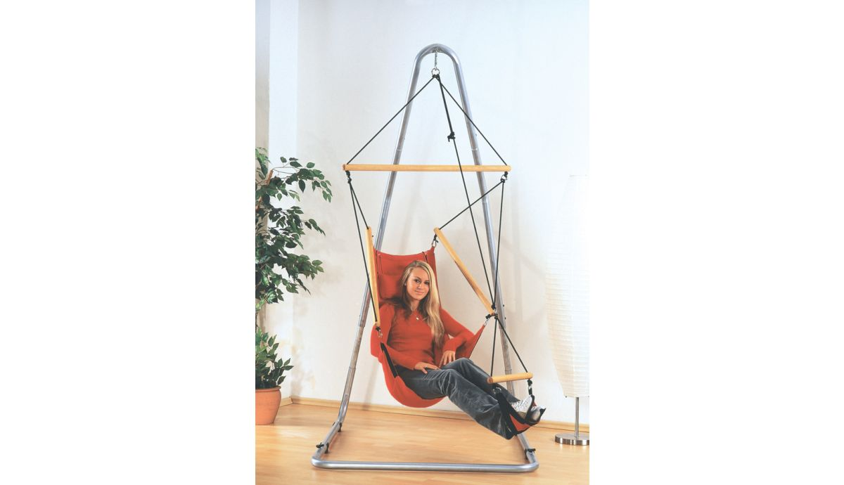 'Swinger' Red Single Hanging Chair