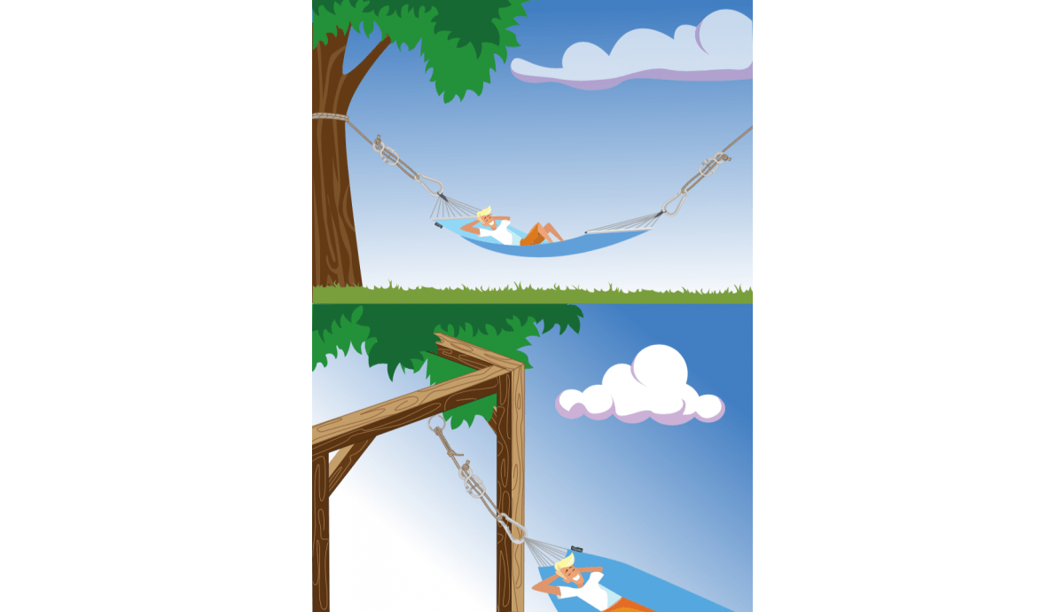 'Simple' White Hammock Fixing
