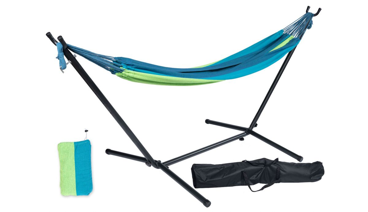 'Pine' Single Single Hammock with Stand