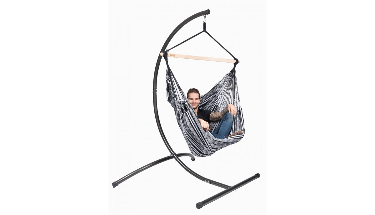 Picture of: Single Hanging Chair Comfort Black White Hammock Heaven