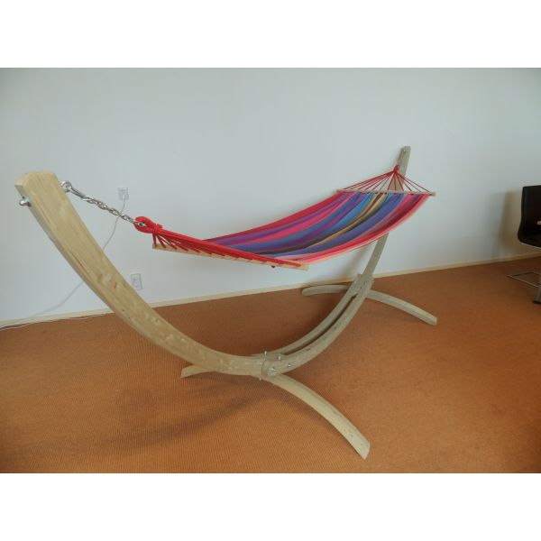 'Wood' Second Chance Double Hammock Stand