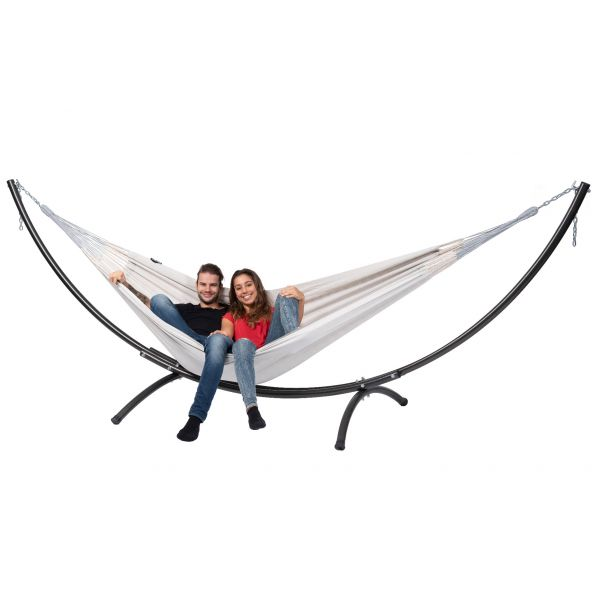 'Arc & Comfort' Pearl Double Hammock with Stand
