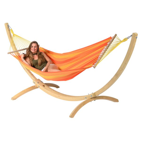 'Relax' Orange Single Hammock
