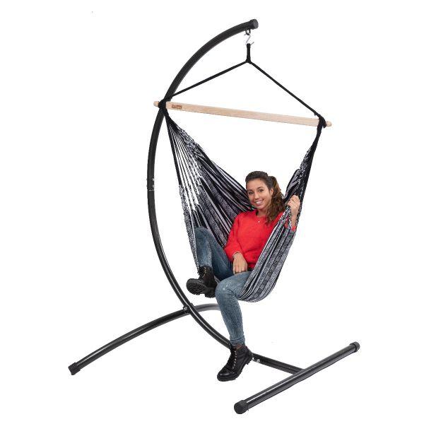 'Comfort' Black White Single Hanging Chair