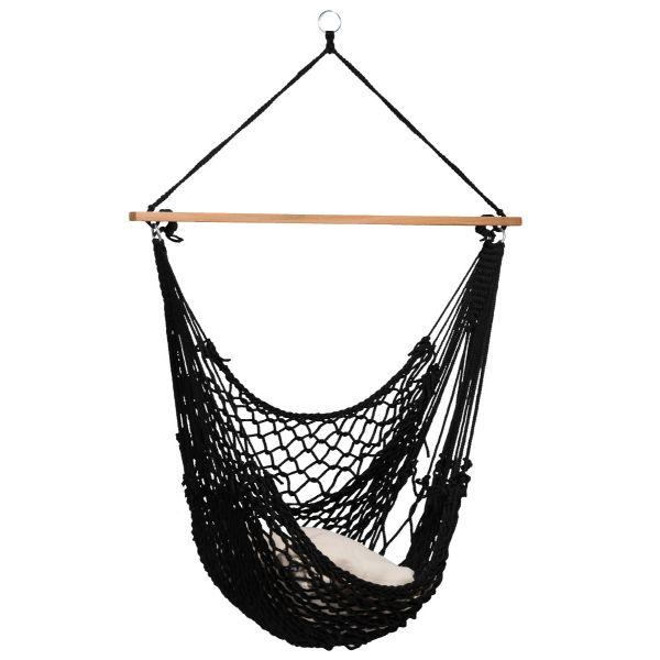 'Rope' Black Single Hanging Chair